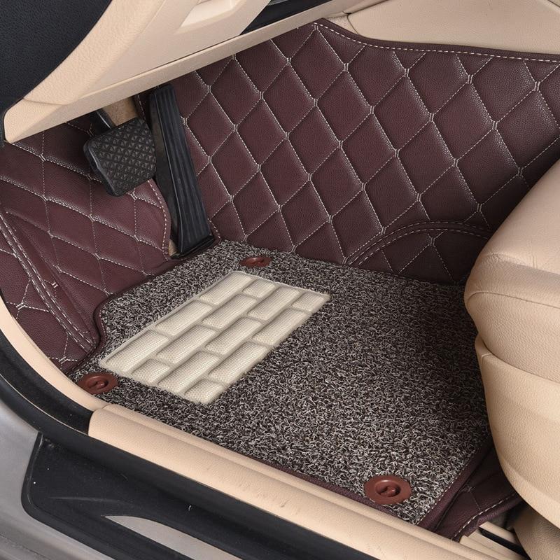 Myfmat пользовательские автомобильные коврики кожа для Lincoln Navigator Town Car MKX легкой чистки модные противоскользящие Orange кофе