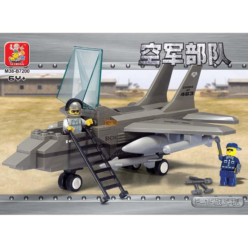 Sluban F15 Fighter Jet Plane Airforce Military Aircraft Building Blocks