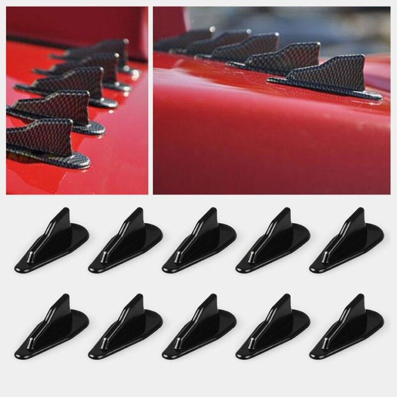 10 Pcs Evo Stijl Carbon Black Autodak Haaienvin Staarten Vleugels Auto Antenne Auto Refit Accessoires 2019