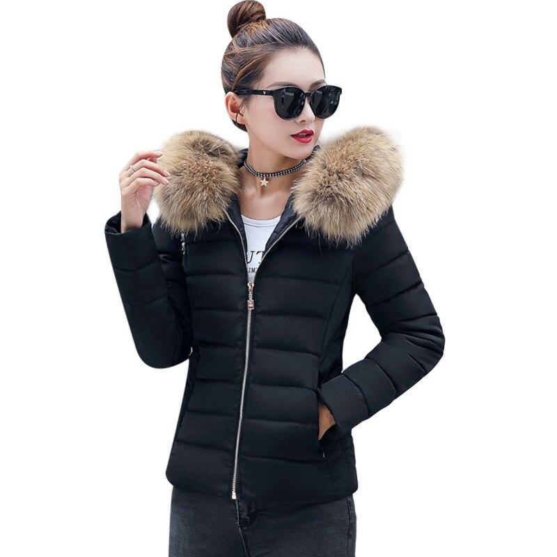 Winter Warm Jacket Parks Women Faux Fur Collar Down Wadded Coat Womens Cotton-Padded Jackets Female Thickening Plus Size 4XL F3 цены онлайн