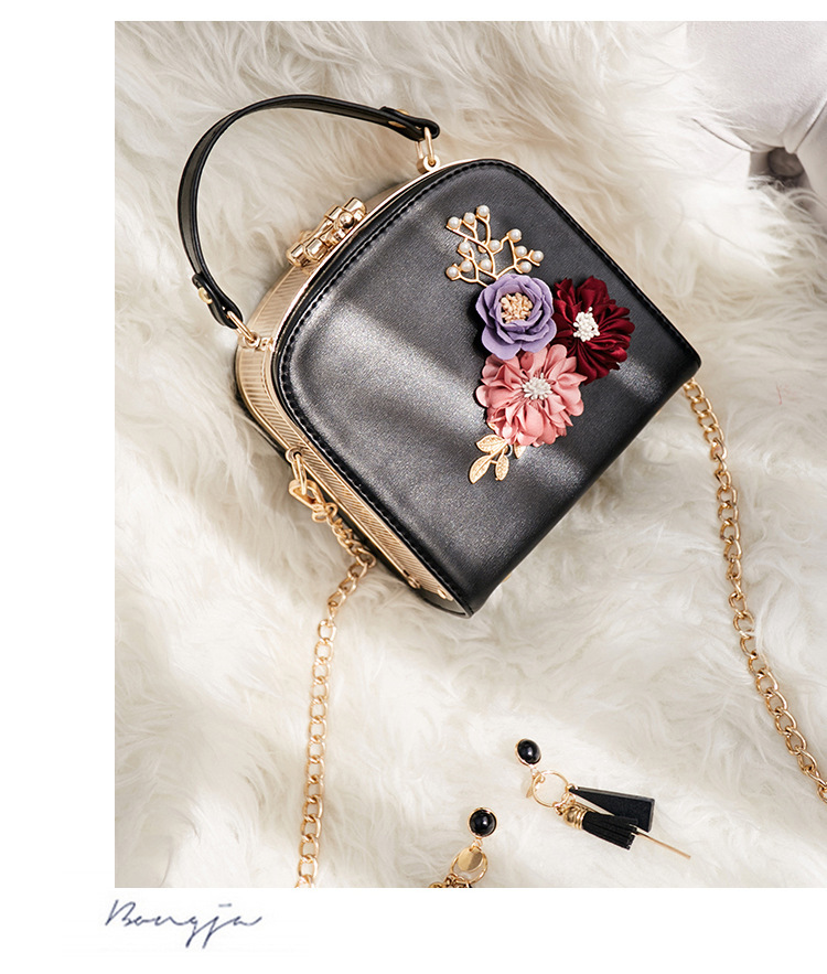 Women crossbody bag female messenger bag with long and short strap fashion designs flowers 52