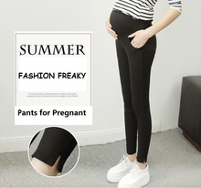2016 Fashion Skinny Maternity Clothes for Pregnant Women Cotton Maternity Pants With High Waist Pants Plus Size Natural Color
