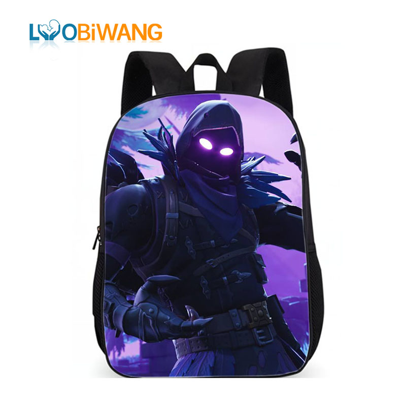 LUOBIWANG Famous Game Printed Children Schoolbag Battle Royale Backpack Lovely Cartoon Character Backpack for Boys and Girls-in School Bags from Luggage & Bags