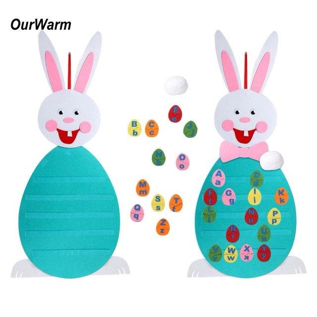 Ourwarm Easter Egg Alphabet Matching Game Bunny Diy Crafts Preschool