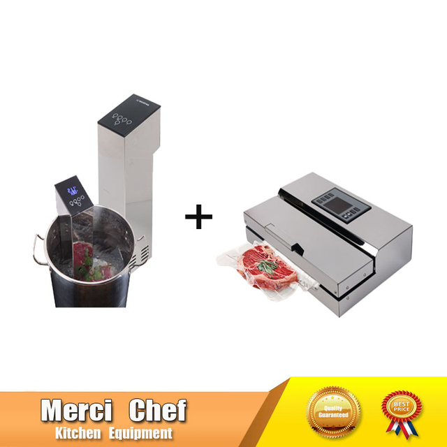 2Pcs /Lot 1 Set Food Processor Sous Vide Cooker + Vacuum Sealer Machine Immersion Slow Cooker Household And Commercial