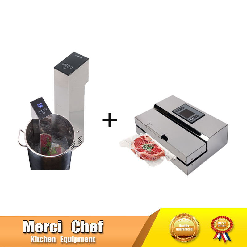 Food Machine 1 Set Vacuum Food Processor Sealer + Sous Vide Slow Cook Mahince Immersion Cooker Household and Commercial household vacuum packaging sealing machine sealer wet and dry use 30cm 110w 220v