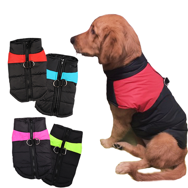 8 Size S 5XL Winter Clothes For Pet Dogs Waterproof Warm Large Dog Vest Cat Puppy Dog Coats Jackets