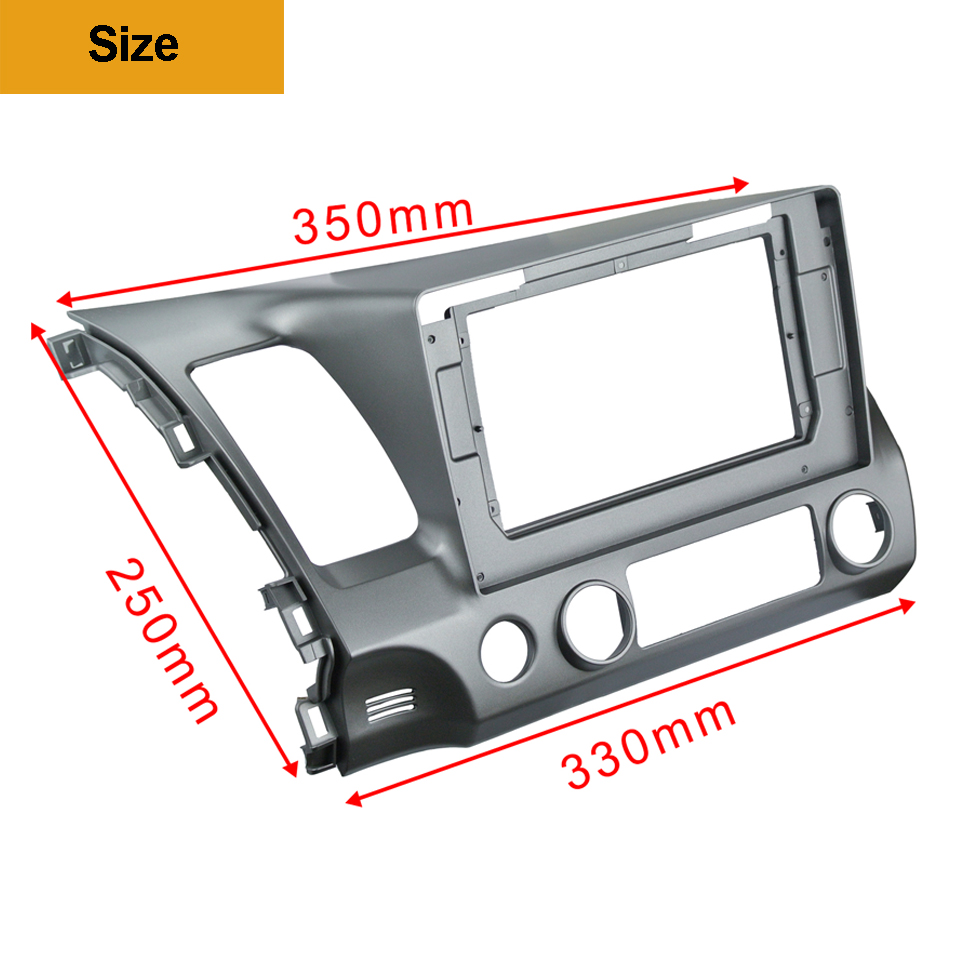 Image 4 - 2Din Car DVD Frame Audio Fitting Adaptor Dash Trim Kits Facia Panel 10.1inch For Honda Civic Left2007 11 Double Din Radio Player-in Fascias from Automobiles & Motorcycles