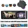 Novo 1 DIN 12 V 1080 P Suporte Câmera Traseira Do bluetooth Rádio Do Carro MP5 player de Áudio Estéreo FM Construído em Bluetooth USB/SD MMC In-Dash