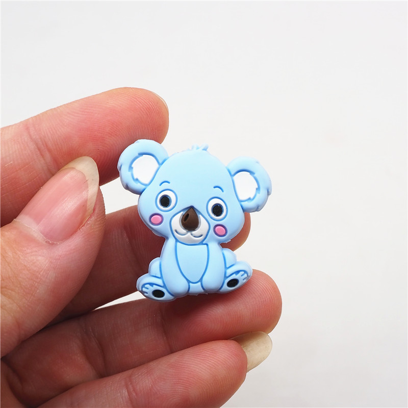 Image 4 - Chenkai 500PCS BPA Free Silicone Koala Teether Beads DIY Animal Cartoon Baby Chewing Pacifier Dummy Sensory Toy AccessoriesBaby Teethers   -