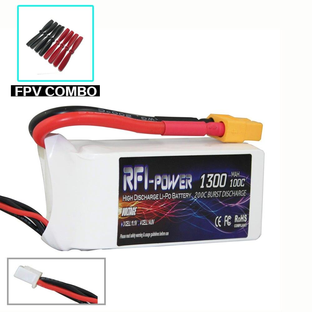 ФОТО RFI power 1300mAh 14.8V 100C(Max 200C) 4S Lipo Battery Pack for FPV RACING