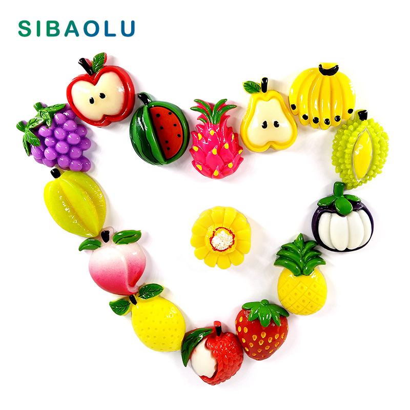 Us 0 85 42 Off Fruit Mangos Carambola Fridge Magnet Whiteboard Sticker Resin Refrigerator Magnets Child Home Diy Decoration Accessories In