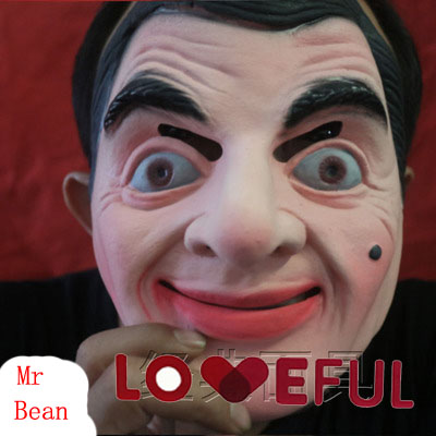 New Quality Cute Cosplay Funny Famous <font><b>Mr</b></font> <font><b>Bean</b></font> Latex Mask For Halloween <font><b>Costume</b></font> Party image