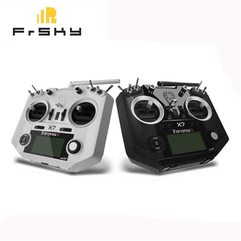 Frete Grátis FrSky ACCST Taranis Modo Q X7 2.4G 16CH 2 Transmissor Controle Remoto Branco Preto Versão Internacional