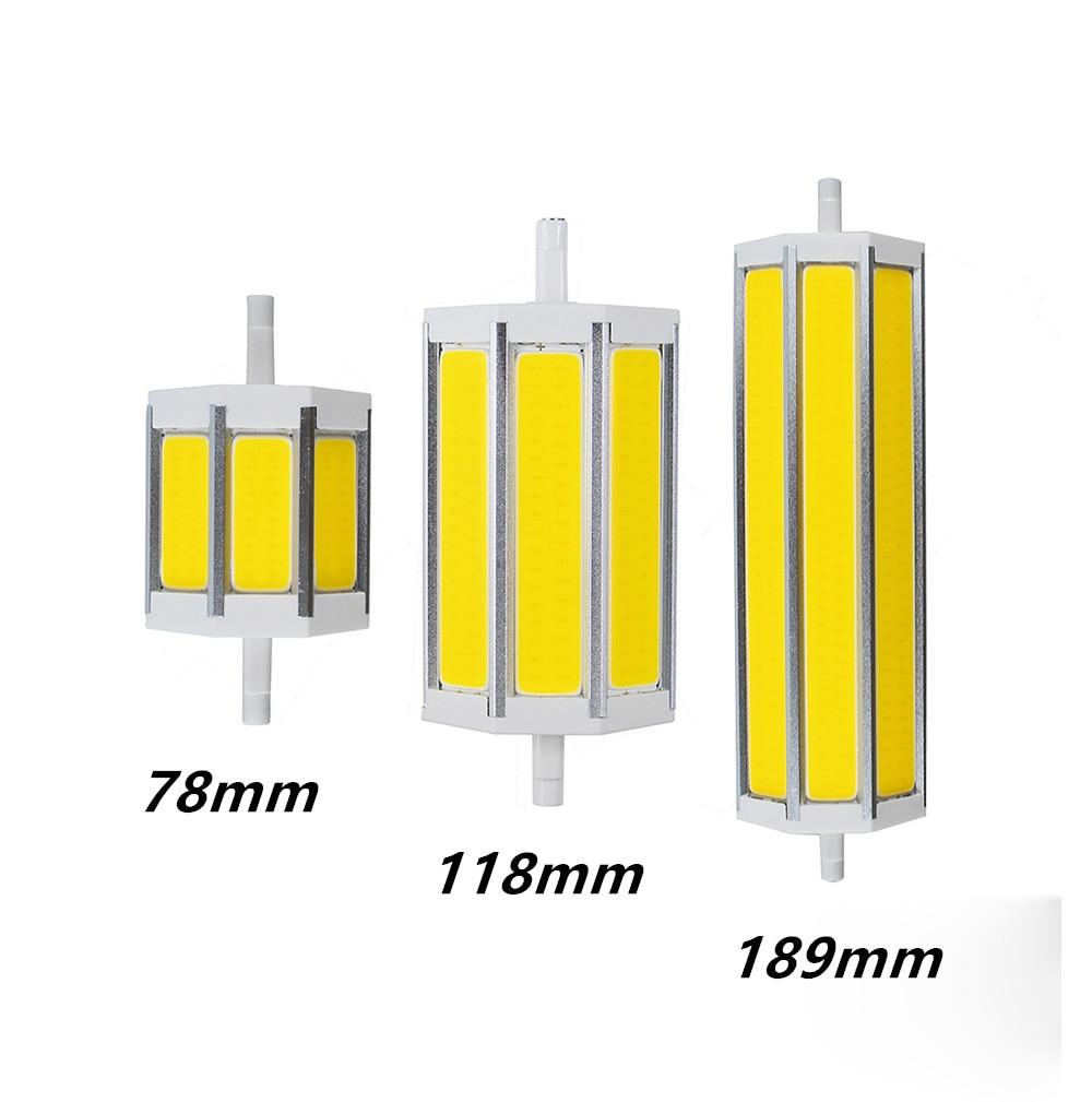 Buy 10pcs r7s cob led bulb dimmable r7s led lights 78mm118mm 189mm 10w 20w 30w for R7s led 118mm 20w