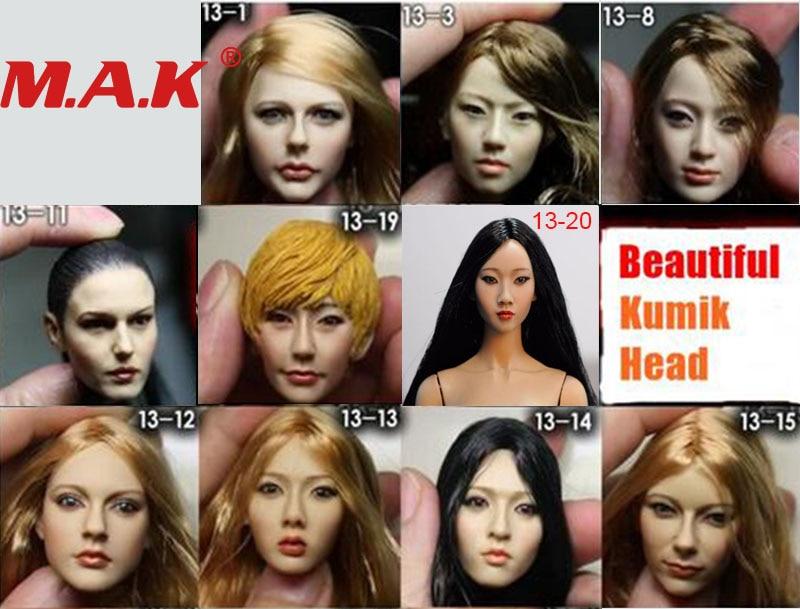 KIMI TOYS KT004 European and American Female 1//6 Head Sculpt Beauty Headplay
