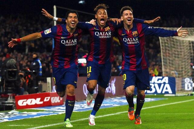P0769 Messi Suarez Neymar Msn Fc Barcelone équipe Domaine Papier