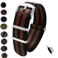 20mm 22mm ceinture de sécurité Nylon otan Zulu bracelet robuste militaire bracelet de montre remplacement bracelets de montre noir bleu gris James Bond