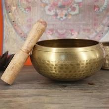 ทิเบตพุทธสวดมนต์อุปกรณ์ขายส่งชามเนปาลทำด้วยมือพระพุทธรูปชามสมาธิทองแดงกระดิ่ง