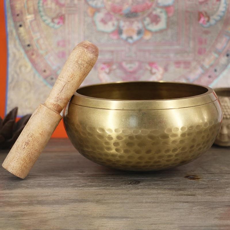 The Tibetan Buddhist chanting supplies wholesale bowl Nepal handmade Buddha bowls meditation copper chime