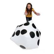 Dice Educational toys 28cm Child toy inflatable Dice Jumbo Large Inflatable Dice Dot Diagonal Giant Toy Party Air Drop Shipping(China)