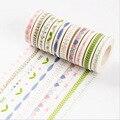10 m DIY M flor hierba Washi Tape Lovely Heart adhesivo cinta adhesiva para Scrapbooking decoración del hogar 1319