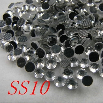 1440pcs SS10 Clear Crystal DMC HotFix FlatBack Strass Rhinestones Hot Fix  Crystal Stones 6bbcf2cff2f8