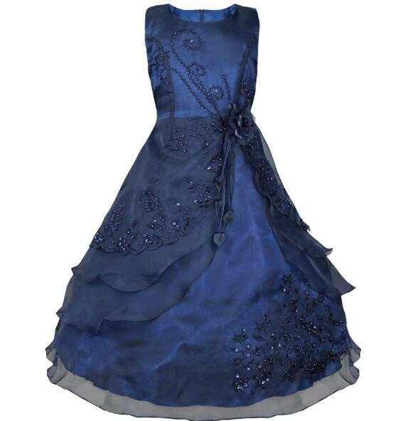 Enfants De Mariage Partie de Robe Age 10 11 12 13 14 adolescent Filles  D\u0027été Fleur Princesse Robes De Bal Robes Enfants Filles vêtements