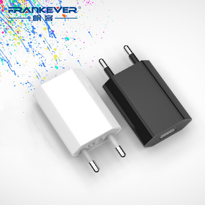 FrankEver 5V1A <font><b>EU</b></font> UK AU <font><b>CN</b></font> Mini Wall Power Adapter USB Charger <font><b>Plug</b></font> for Samsung Huawei Mobile Phone image