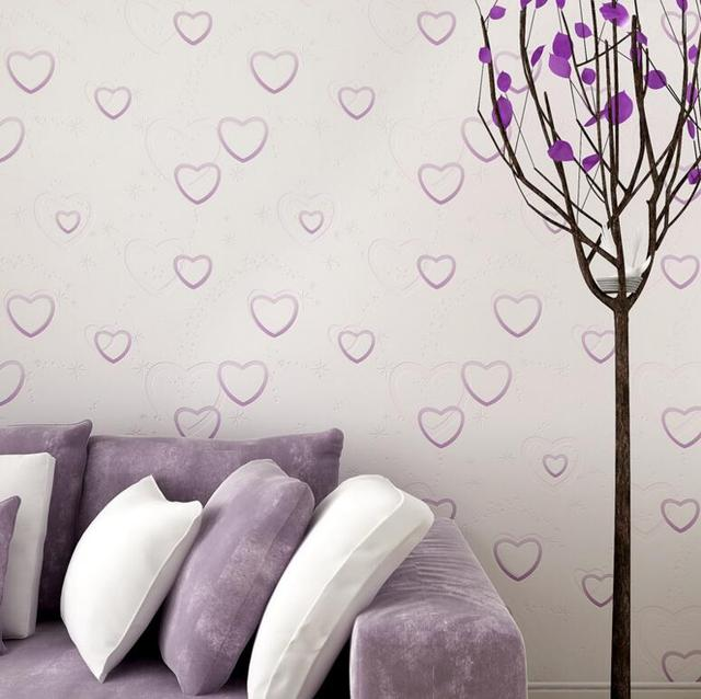 Lovely Beautiful Hearts Pattern Wallpaper Roll Princess Girl Boy Room Background Kids Wall Covering Paper Wall Tapety In Wallpapers From Home