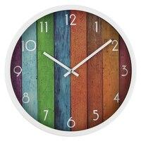 12 дюймов Творческий настенные часы металл белый круглый часы немой Мода часы настенные 3d home decor Relogio де Parede horloge росписи