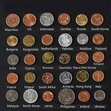 Aqumotic Сбор монет 30/набор, чтобы отправить национальный флаг монеты коллекции мира модель немонетарных монет
