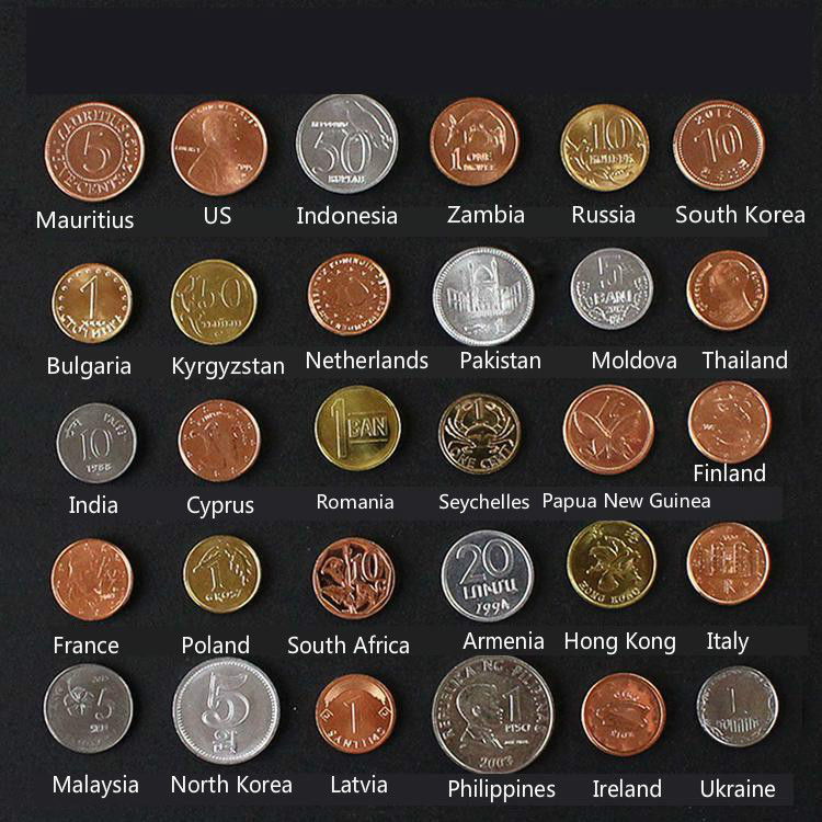 Aqumotic Collect Coins 30/set To Send The National Flag Coin Of The World Collection Model Non-monetary Coins