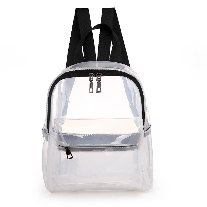 Miyahouse Hot Sale Transparent Backpack For Female Candy Color Clear Jelly Bag Small PVC School Bag Lady Sac Transparent