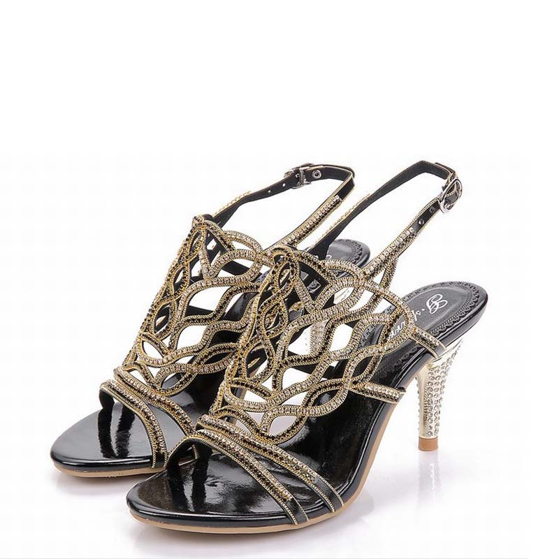 2017 shoes woman sandals rhinestone high heels women femme wedding valentine party shoes zapatos mujer sapato feminino sandalias women high heels shoes woman platform sandals zapatos mujer sapato feminino sandalias femme transparent dance party club shoes