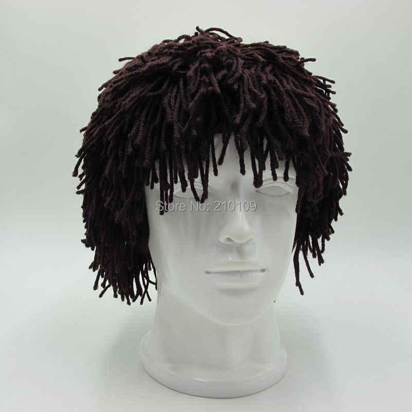 Mr. Kooky باندانا المتشرد رجل الكهف قبعة الشتاء قبعة تدفئة اليدوية حك Skullies الرجال النساء Gorros جديد هالوين الهدايا مضحك قبعات