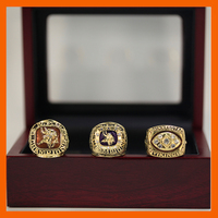 1973 1974 1976 MINNESOTA VIKINGS CHAMPIONSHIP RING MEN RINGS COLLECTIONS WITH WOODEN BOX