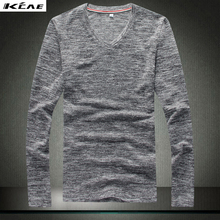 2016 autumn knitted sweater men new fashion slim sweater men long sleeve male sweater v neck Plus Size M-XXXL