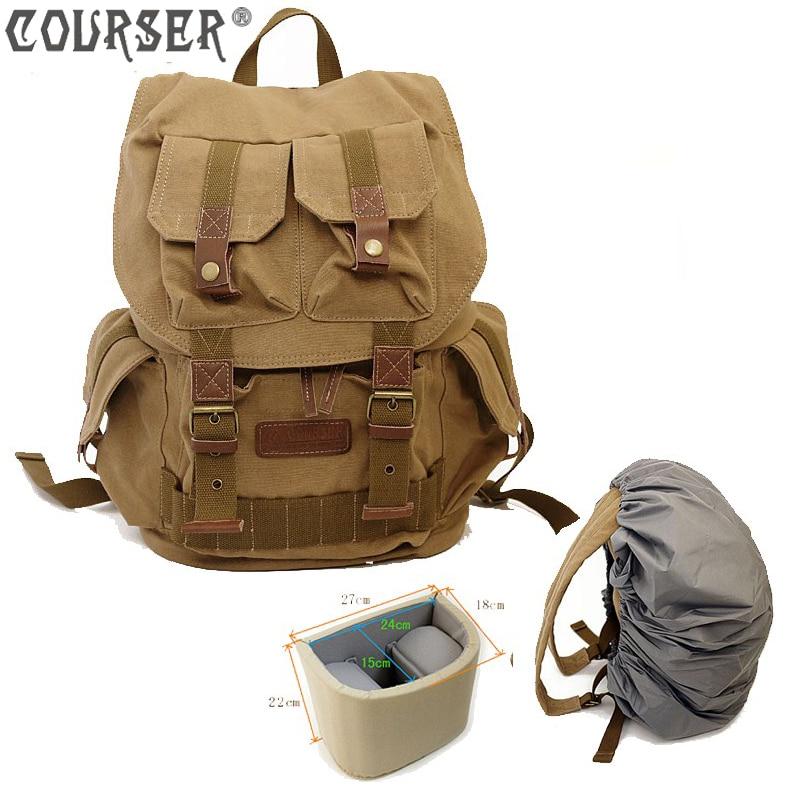Camera Backpacks Canvas Waterproof Camera bag digital bags large capacity free shipping PACPF2001