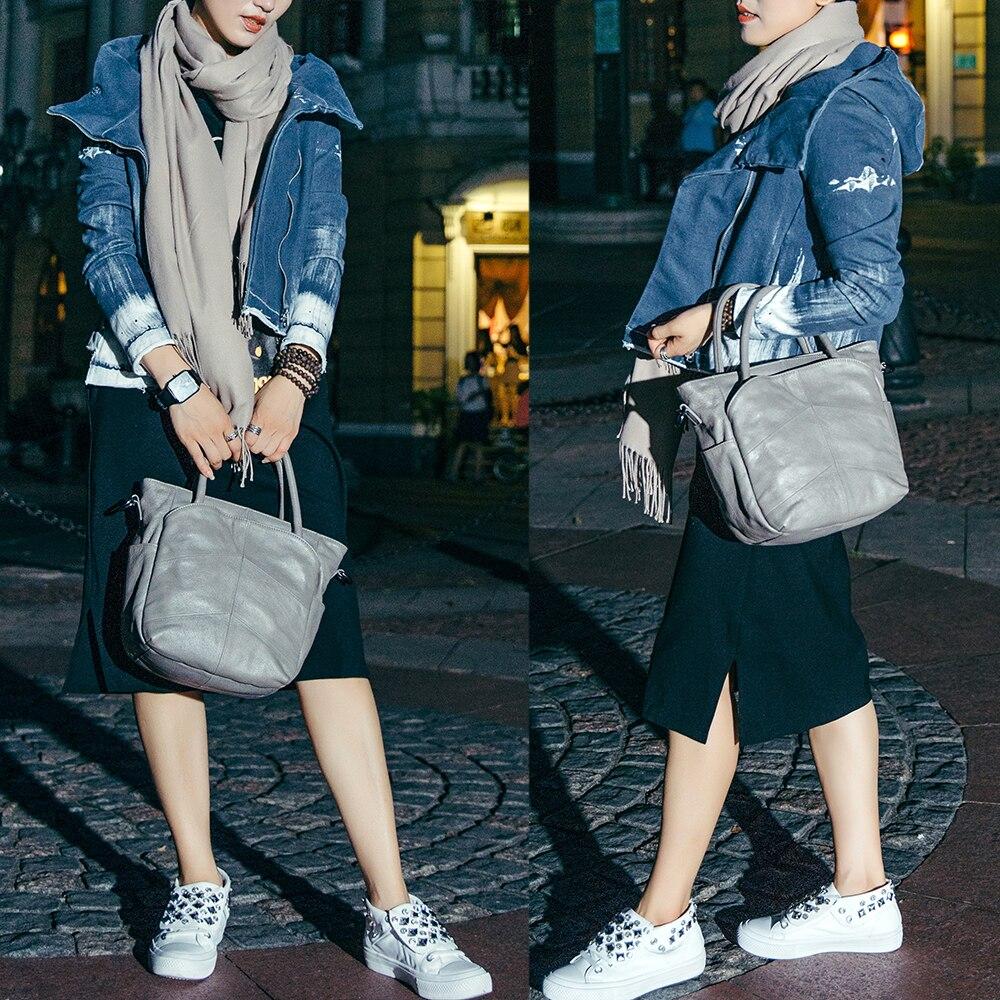 Vrouwen eerste laag van lederen handtassen Casual schoudertas - Handtassen - Foto 4