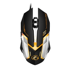 Professional Wired Gaming Mouse V6 5000 DPI LED Optical USB Wired Computer Mouse Mice Cable Mouse For Pro Gamer