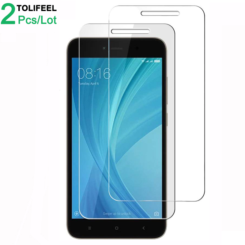 2Pcs Tempered Glass For Xiaomi Redmi Note 5A Prime Screen Protector 9H 2.5D On Protective Film Glass For Xiaomi Redmi Note 5A