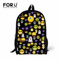 441f7ac0cf57 FORUDESIGNS Funny Emoji Printing Girls School Bags Students Bookbags For  Children Mochilas Women Men S Backpacks