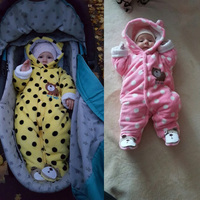 Autumn Winter Newborn Baby Clothes Fleece Animal Style Baby Girls Clothing Pokla Dots Infant Romper Cotton