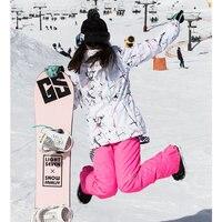 Зима 2018 женский лыжный костюм s женский лыжный костюм для женщин Горные лыжи сноуборд куртка штаны для сноуборда женские теплые водостойкие