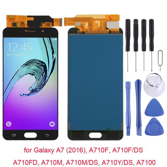 Tested AAA Quality For Samsung Galaxy A7 (2016), A710F, A710F/DS, A710FD Replacement LCD Display+Touch Screen Digitizer Assembly