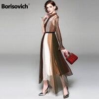 Borisovich New Arrival 2018 Fashion Summer Clothes For Women Elegant Slim Ladies Party Dress Casual Long Dresses M382