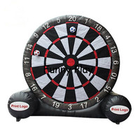 Commercial Inflatable Football Soccer Dart Board Game Bouncer for Sale outdoor advertising kick goal