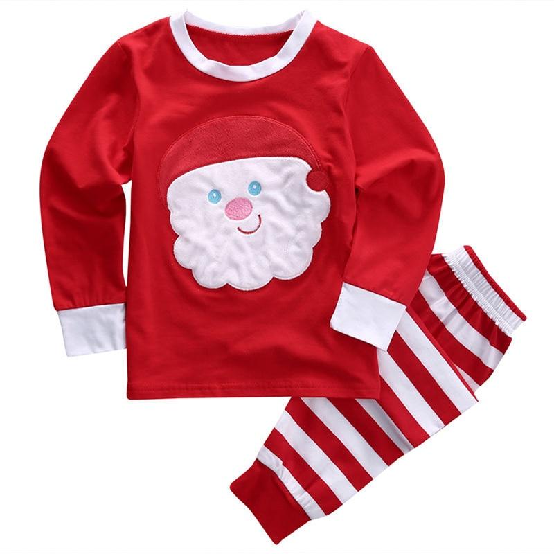 christmas clothes kids pajama set baby boys girls clothing set fashion children christmas pajamas sleepwear set - Toddler Christmas Pajamas