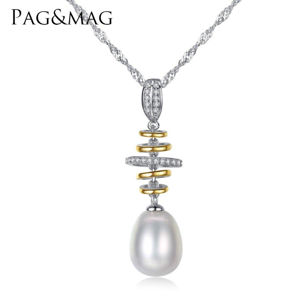 PAG & MAG 100% natuurlijke parel hanger ketting mode-stijl - Fijne sieraden